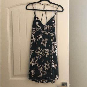 Express Strappy Fit n Flare dress